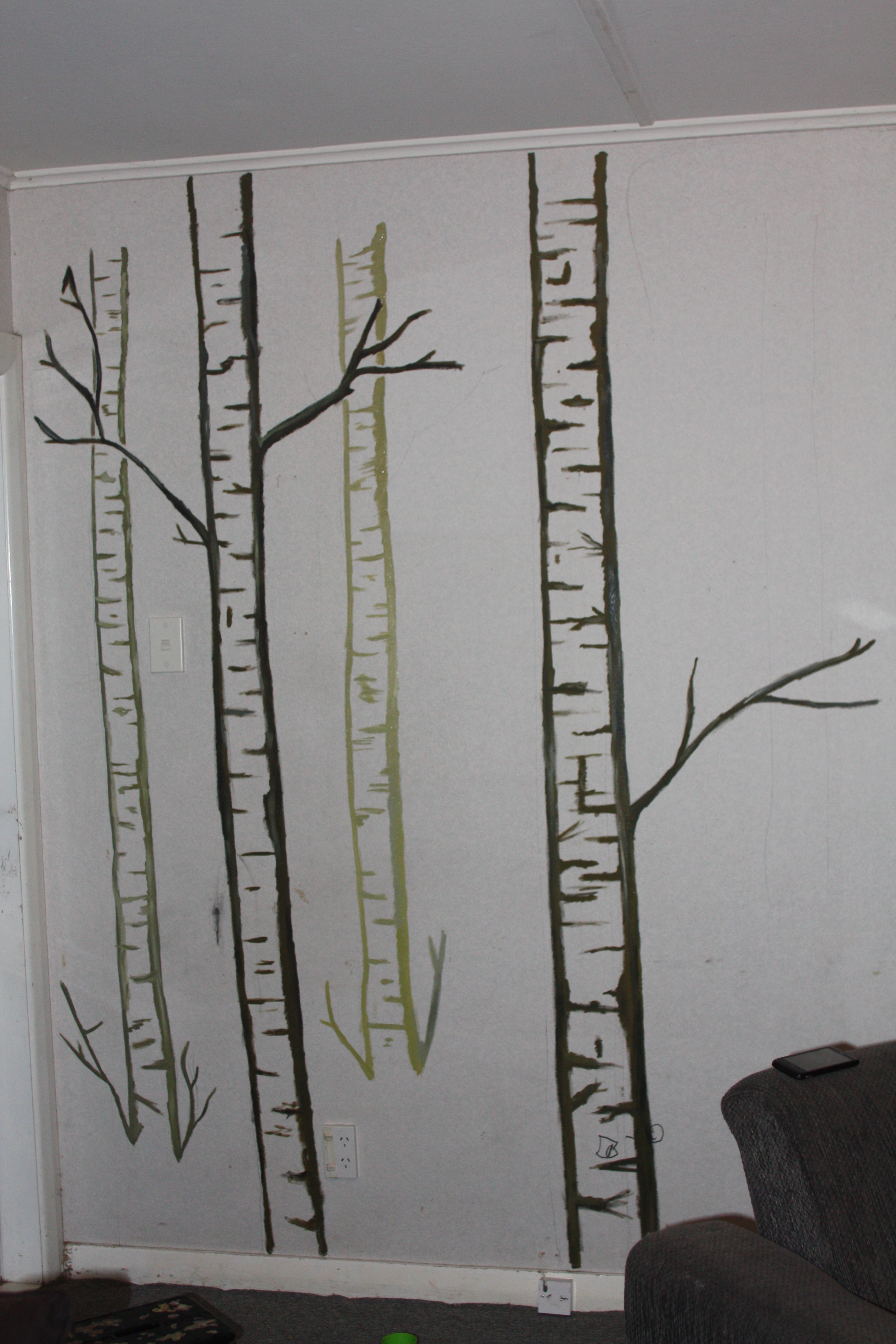 Easy Forest Tree Drawing Did a Pencil Line Drawing